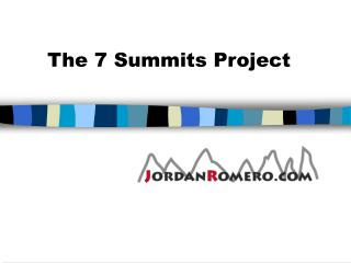 The 7 Summits Project