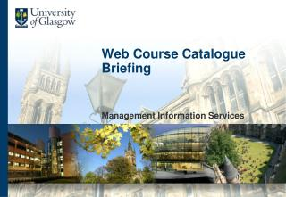Web Course Catalogue Briefing