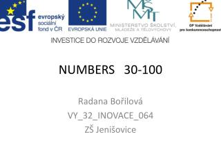 NUMBERS   30-100