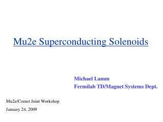 Mu2e Superconducting Solenoids
