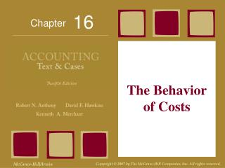 The Behavior of Costs