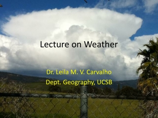 Lecture on Weather