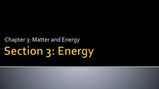 Section 3: Energy