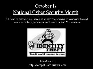 October is  National Cyber Security Month