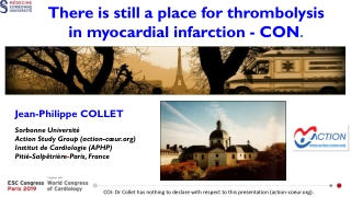 COI: Dr Collet has nothing to declare with respect to this presentation (action-coeur).