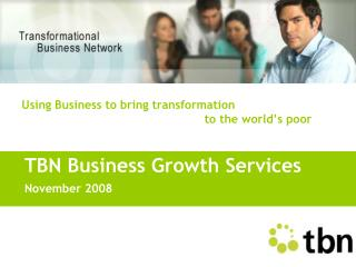 TBN Business Growth Services November 2008
