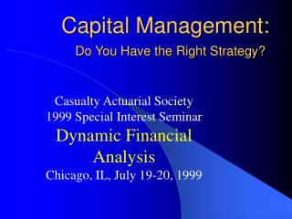 Capital Management: Do You Have the Right Strategy?