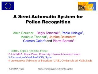 A Semi-Automatic System for Pollen Recognition