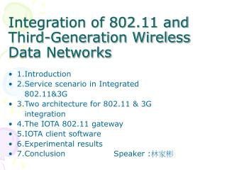 Integration of 802.11 and Third-Generation Wireless Data Networks