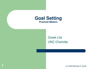 Goal Setting Practical Matters