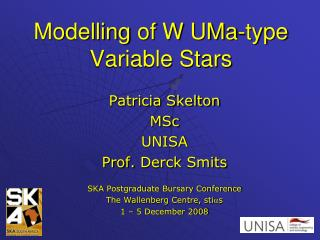 Modelling  of W  UMa -type Variable Stars