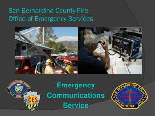 San Bernardino County Fire  Office of Emergency Services
