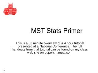 MST Stats Primer
