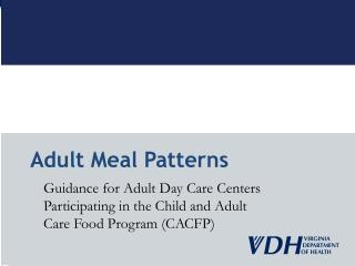 Adult Meal Patterns