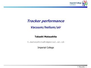 Tracker performance