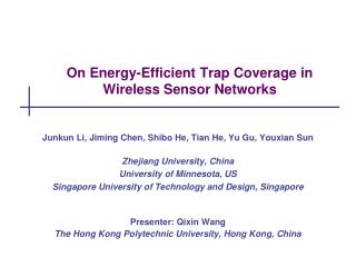On Energy-Efficient Trap Coverage in Wireless Sensor Networks