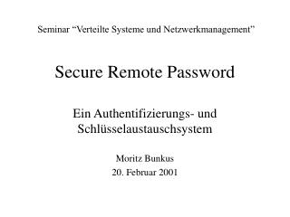 Secure Remote Password