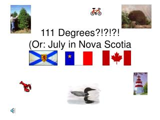111 Degrees?!?!?! (Or: July in Nova Scotia