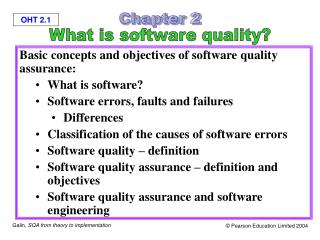 Basic concepts and objectives of software quality assurance: What is software?
