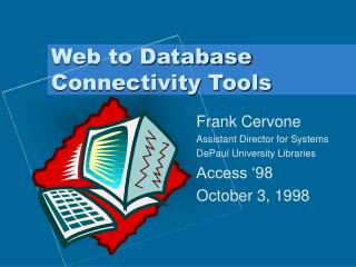 Web to Database Connectivity Tools