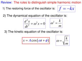 The rules to distinguish simple harmonic motion