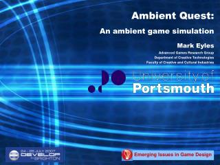 Ambient Quest: An ambient game simulation