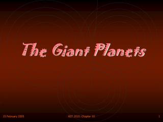 The Giant Planets