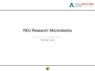 REU Research:  Microrobotics