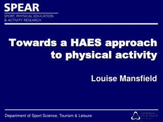 Towards a HAES approach to physical activity