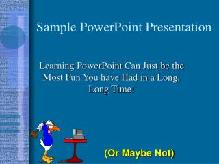 Sample PowerPoint Presentation