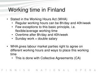 Working time in Finland