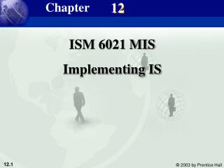 ISM 6021 MIS Implementing IS