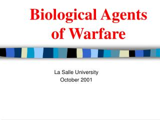 Biological Agents of Warfare