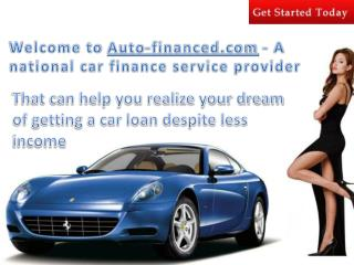 Buy a Car with No Credit History