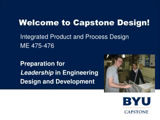 Welcome to Capstone Design!