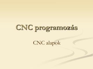 CNC programozás