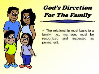 God's Direction For The Family