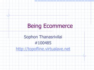 Being Ecommerce