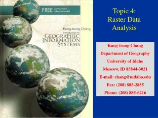 Topic 4:  Raster Data Analysis