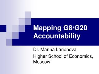 Mapping G8/G20 Accountability