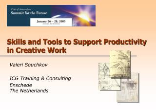 Skills and Tools to Support Productivity in Creative Work