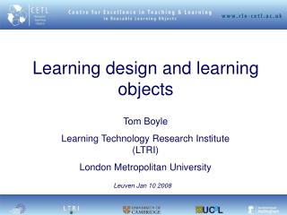 Learning design and learning objects