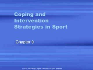 Coping and Intervention Strategies in Sport