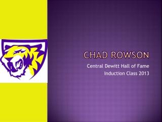 Chad Rowson
