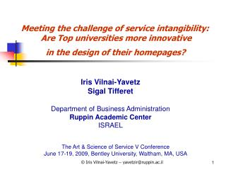 Meeting the challenge of service intangibility: