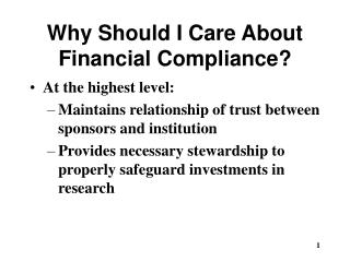 Why Should I Care About Financial Compliance?