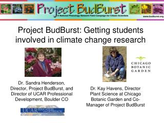 Project BudBurst: Getting students involved in climate change research