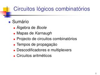 Circuitos lógicos combinatórios