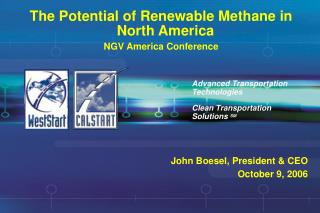 The Potential of Renewable Methane in North America NGV America Conference