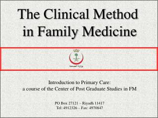 The Clinical Method  in Family Medicine